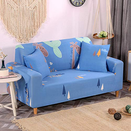 HXTSWGS Universal Sofa Slipcover,Stretch sofa cover, stretch fabric, furniture protection cover-Blue 10_90-140cm