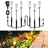 Gartenbeleuchtung ECOWHO 6er Gartenleuchte mit Erdspieß IP65 Wasserdicht Gartenstrahler, LED...