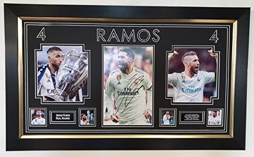 Cristiano Ronaldo Firmado y enmarcado Real Madrid camiseta AFTAL distribuidor