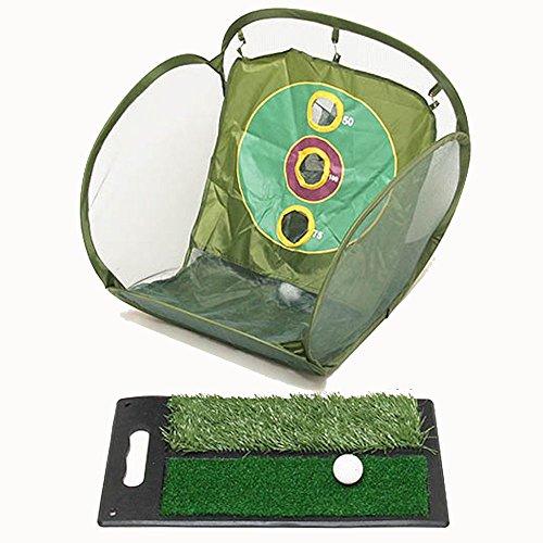 iimono117 ゴルフ練習器 (アプローチネット 芝マット セット) ゴルフ 練習 チップ練習 練習ネット