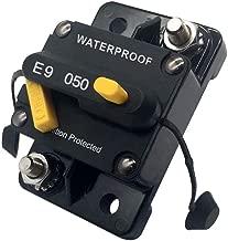 50 amp Circuit Breaker 12V - 72V DC Circuit Breakers for Trolling Motor Car Travel Trailer Solar Panel Marine Boat Motorhome Manual Camper Reset Trip Switch