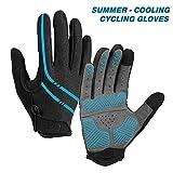 Aegend Breathable Full Finger Cycling Gloves - Touch Screen, Anti-Slip Bike Gloves, Lightweight Mountain Bike Gloves for Biking, Climbing, Hiking, Unisex Motorcycle Gloves for Men/Women, M