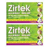 Zirtek Allergy Relief 7 Tablets x 2 Packs | 2 Weeks Supply | for Hayfever & Allergies | Cetirizine Antihistamine Tablet | Reliever (2)