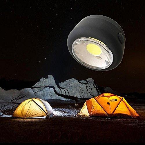 N-K Mini bolsa portátil de 300 lúmenes, luz LED brillante, linterna magnética para exterior, senderismo, camping, pesca, útil y práctica