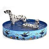 MIAOKE Piscina Perros y Gatos Bañera Plegable, Piscina Plegable para Niños PVC Antideslizante,Desmontables Portatil Regalo para Mascotas, Adecuado para...