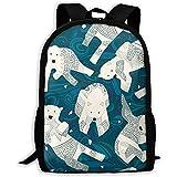 Zaino per adulto Arctic Polar Bears con stampa blu