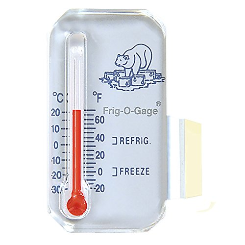 Sun Company Frig-o-gage - Cooler-Refrigerator-Freezer Thermometer | Refrigerate and Freeze Zones | For RVs and Motor Homes -  505