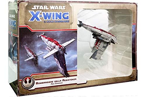 Asmodee Italia-GTAV1025 Star Wars X-Wing El Juego de miniaturas Primera Edición Bombardero de la Resistencia, Color, 9907