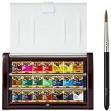 ホルベイン 固形水彩絵具 アーチストパンカラー 21色セット 越前漆塗り製 PN695 ハーフパン