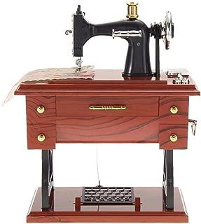 Retro Plastic Metal Sewing Machine Music Box Mechanical Jewelry Boxes Decor