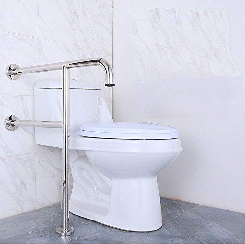 Eeayyygch Edelstahl Boden Armlehne Bad Sicherheit Armlehne Toilette WC WC Griff ältere Zaun Typ (Farbe : -, Größe : -)