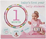 C.R. Gibson First Year Baby Month Stickers for Girls