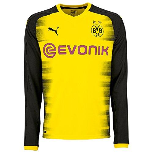 Puma BVB Borussia Dortmund Herren Promo Langarm International Trikot - 751659-11, Größe:S