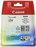 Canon PG-40+CL-41 original Tinten Multipack Schwarz und Mehrfarbig für Pixma Inkjet Drucker MP140-MP150-MP160-MP170-MP180-MP190-MP210-MP220-MP450-MP450x-MP460-MP470-iP1200-iP1300-iP1600-iP1700-iP1800-iP1900-iP2200-iP2500-iP2600