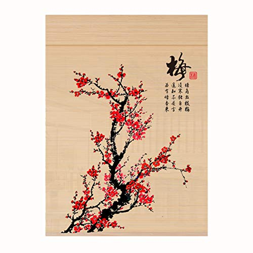 CHAXIA Bambusrollo Chinesischer Stil Bambus Raffrollo Venedig-Rollo Hintergrunddekoration Raumteiler Teehouse Hotel Arbeitszimmer Verwendung 2 Stile anpassbare Größe, a, 150cmX300cm