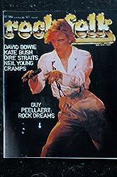 ROCK & FOLK 189 OCTOBRE 1982 COVER DAVID BOWIE KATE BUSH DIRE STRAITS NEIL YOUNG CRAMPS GUY PEELLAERT