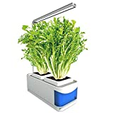 水耕栽培システム– LEDグローライト付き屋内ハーブガーデンキット、花の果物と野菜のための水耕栽培ガーデン–高さ調節可能、インテリジェントなタイミングと光機能