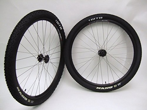 WTBFX23 29 inch Mountain Bike Wheels Disc or Rim Brake Black Wheel Set With Nano Tires and Tubes!