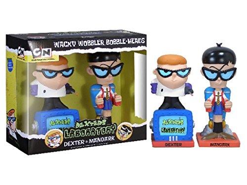 Funko - Dexter's Laboratory pack 2 Bobble Heads Dexter & Mandrak 16 cm by Cartoon Network