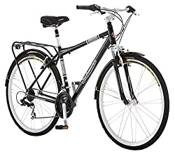 best hybrid bikes under 300 - Schwinn Discover Men's Hybrid Bike (700C Wheels),Black