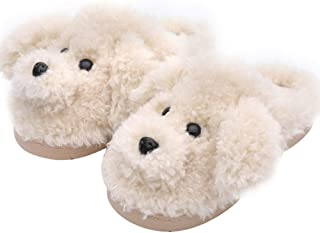 Women`s Cute Teddy Animal Slippers House Slippers Warm Memory Foam Cotton Cozy Soft Fleece Plush Home Slippers Indoor Outdoor