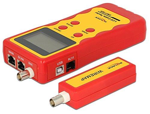 Delock LCD Kabeltester RJ45 / RJ12 / BNC/USB