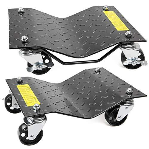 "XtremepowerUS 2-pieces 12"" x 16"" Set Premium Skates Wheel Car Dolly Repair Slide Vehicle Car Moving Dolly"