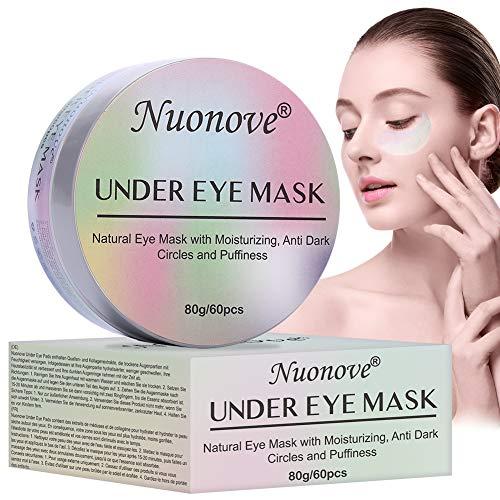 Máscara para los Ojos, Parches para los Ojos, Ojos Parches, Eye Mask, Máscaras Antiarrugas para Los Ojos, Hidratante, Reduce Las Ojeras, bolsas, patas de gallo e hinchazón, 60Pcs
