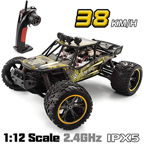 GPTOYS Remote Control Truck 1:12 Hobby Grade Off Road Big Monster Easy To Control RC Car Crawler Army Green