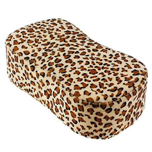 Nail Shop Leopard Mini Oreiller à Main Outil Light Therapy Armor Fatigue Des Mains Doux Petit Oreiller Garde Main Pad,1pcs