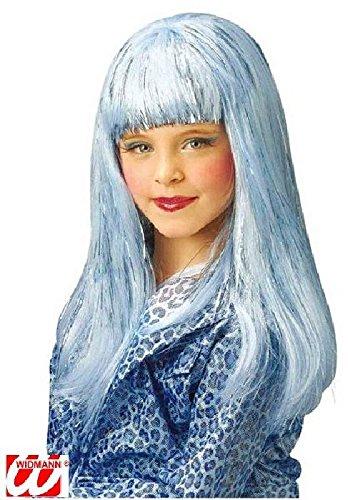 Widmann - Perruque Longue Glamour Bleu