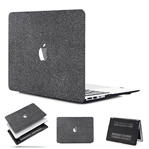 PapyHall MacBook Case Glitter Rubberized Coated Ultra-Slim Light Weight Plastic Case for Old MacBook Pro 13 inch CD-ROM (NO Retian/Touch) Model: A1278(MS-Gray)