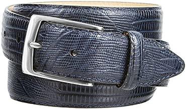 Joseph Nickel Finish Buckle Italian Leather Alligator Dress Belt 1-3/8