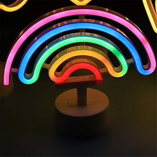 2020 Ins LED Neon Unicorn Night Light Creative Ice Cream USB Rainbow Night Light Double Sided Christmas LED Halloween Baby Gift