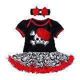 QinMMROPA Body de Vestido de Halloween para bebés niñas Diadema con Estampado...
