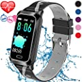 Inspiratek Kids Fitness Tracker for Girls and Boys Age 5-16 (5 Colors), Kids Activity Tracker, Fitness Watch for Kids - Fitness Tracker for Kids - Activity Tracker for Kids, Kids Step Tracker (Black)