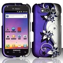 Bundle Accessory for T-mobil Samsung Galaxy S Blaze 4g T769 - Purple Vine Designer Hard Case Protector Cover + Lf Stylus Pen