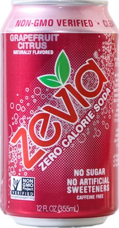 Zevia All Natural Soda, Grapefruit Citrus, 12-Ounce Cans (Pack of 24)