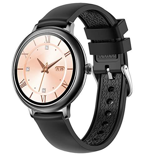 YWS Redonda Redonda Smart Watch CF80 CF80 Tasa del corazón y Monitoreo de la presión Arterial Pedómetro Bluetooth Deportes Smart Pulsera Smartwatch para Android iOS,C