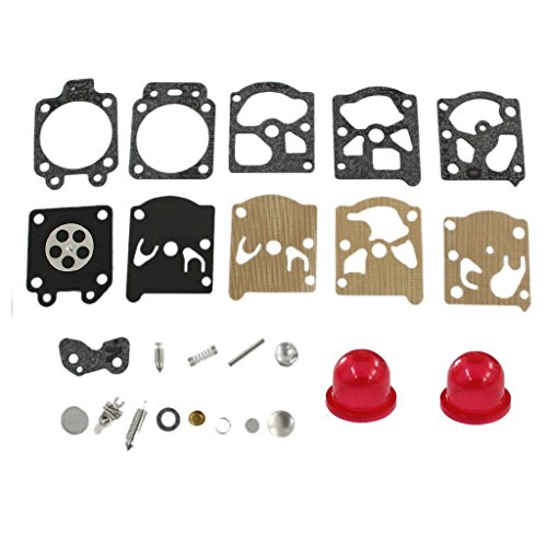 TucParts Kit de diaphragme pour carburateur de rechange avec poire d'amorçage, pour débroussailleuse McCulloch Trim Mac 210 240 241 250 251 280 281 323S Pro Mac 320X, Walbro K20-WAT, référence 530069844