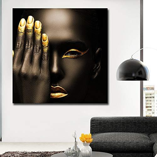 unbrand Bild Wandkunst Leinwand Gemälde Portrait Frau Poster und Kunstdrucke Home Decoration Gemälde Kunstdruck auf Leinwand 80X80CM
