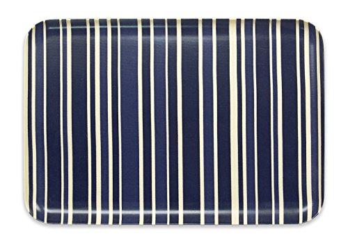 タツクラフト SR ランチョン トレー L トリノ ストライプ ディープ ブルー 食洗機対応 電子レンジ対応 お盆 おしゃれ プラスチック 大 小 大きい 深い 四角 長方形 洋風 和風 トレイ インテリア 白 北欧 雑貨 北欧雑貨 ランチョンマット 子供