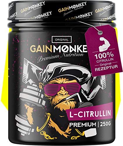 GainMonkey© L-Citrullin Malat Pulver- Hochwertig & Ultrafein für Echte Athleten I Citrulline Malate Aminosäure I Made in Germany