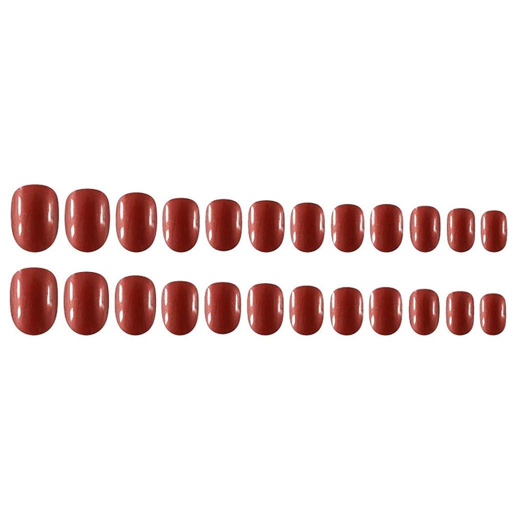 着服荒れ地モザイクDecdeal Decdeal ネイルチップ 24ピース 12異なるサイズ diy サロン ネイルアートツール 偽