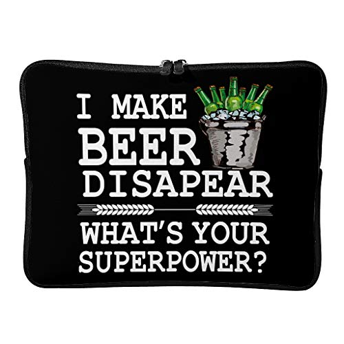 Everyday I Make Beer Disapear Laptop Bags Upgraded Durable - Funny Humor Tablet Cases Suitable for Professional Travel White 10 Zoll
