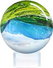 Bola de Cristal para fotografía Esfera con Soporte Base y Caja Bola Cristal K9 Transparente para Meditar y Curación Bola de Cristal para Decoraciones(80mm)