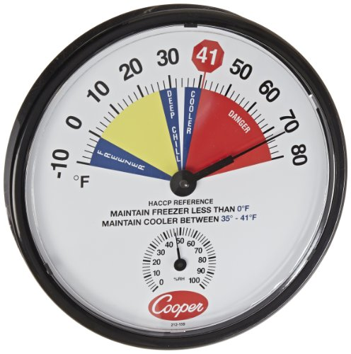 cooper-atkins 212???159???8?bi-metals HACCP Cooler/冷凍庫温度計、10?to 80度F温度範囲