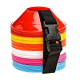 Fitness Health - Coni multifunzione per percorso di agilità per rugby, calcio, allenamento sportivo, atletica, mini-set da 60 pezzi