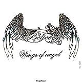 "'Tatuaggio Temporaneo Angel Wings""Ali D' angelo avastore"