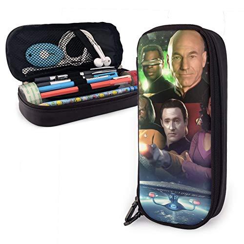 Star Trek - Estuche multifunción de piel sintética con cierre de cremallera, funda de transporte para suministros escolares, oficina